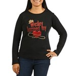 Wesley Lassoed My Heart Women's Long Sleeve Dark T