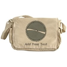 Carpenters Saw. With text. Messenger Bag