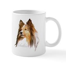 Sheltie Head-Retro Mug