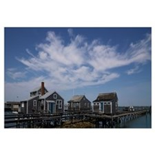 Stilt house at a pier, Old North Wharf, Nantucket