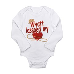 Wyatt Lassoed My Heart Long Sleeve Infant Bodysuit