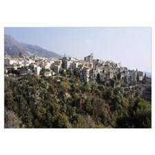 Village on a hill, Tourettes-Sur-Loup, Alpes-Marit