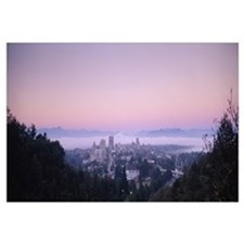 City at morning, Asheville, Buncombe County, North
