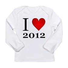 I Love 2012 Long Sleeve Infant T-Shirt