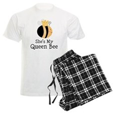She's My Queen Bee Couples Pajamas
