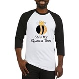 She's My Queen Bee Couples Baseball Jersey