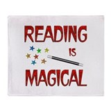 Reading is Magical Throw Blanket