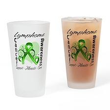 Ribbon Lymphoma Awareness Drinking Glass