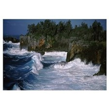 Waves breaking on the coast, Vava'u, Tonga, South
