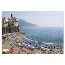 Houses on the sea coast, Amalfi Coast, Atrani, Sal