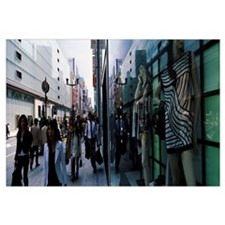 Group of people walking in a street, Ginza, Tokyo