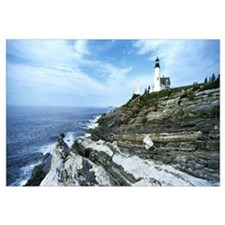Lighthouse at the seaside, Pemaquid Point Lighthou