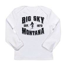 Big Sky Skier Long Sleeve Infant T-Shirt