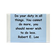 robert e lee quotes Rectangle Magnet