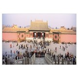 Tourists in front of a palace, Forbidden City, Tia