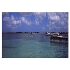 Boats in the sea, Simpson Bay, Sint Maarten, Nethe
