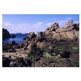 Rock formations on the coast, Ploumanach, Brittany