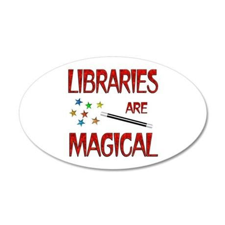 Libraries are Magical 38.5 x 24.5 Oval Wall Peel