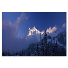 Snow covered mountains, Mt Shuksan, North Cascades