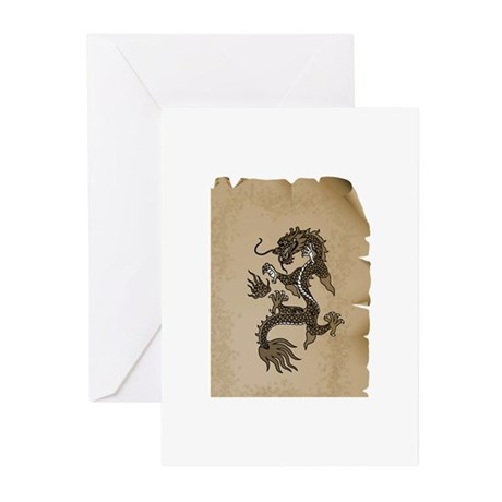 Dragon Scroll Greeting Cards (Pk of 20)