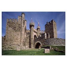 Castle, Knights Templar Castle, Ponferrada, Leon,