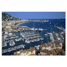 High angle view of a harbor, Cannes, Provence Alpe