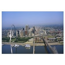 High angle view of buildings in a city St. Louis M