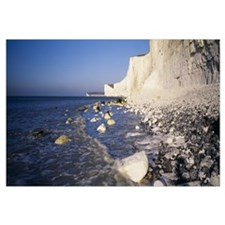 Chalk cliffs on the coast Beachy Head Seven Sister