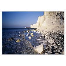 Chalk cliffs on the coast Beachy Head Seven Sister