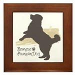 Bernese Mountain Dog Framed Tile