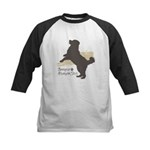 Bernese Mountain Dog Kids Baseball Jersey