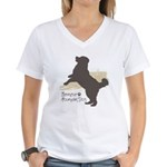 Bernese Mountain Dog Women's V-Neck T-Shirt