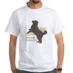 Bernese Mountain Dog White T-Shirt