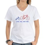 Cyclist Dad Women's V-Neck T-Shirt