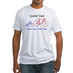 Cyclist Dad Fitted T-Shirt