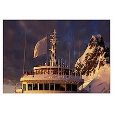 Tourists on a cruise ship Antarctica