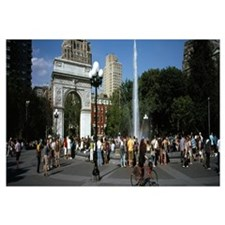 Tourists at a park Washington Square Arch Washingt
