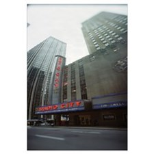 Stage theater at the roadside Radio City Music Hal