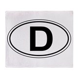 "Oval D ""Deutschland"" design Throw Blanket"