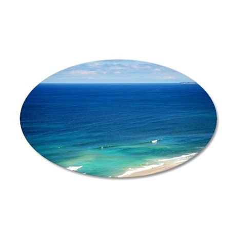 Surfers Paradise 38.5 x 24.5 Oval Wall Peel