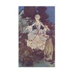 Dulac's Cinderella & Godmother Sticker (Rectangula