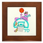 SABRA DOG(Basketball)Jewish Framed Tile