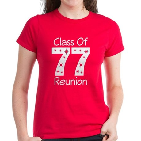 Class Of 1977 Reunion Women's Dark T-Shirt