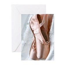 Pointe Shoes Greeting Cards (Pk of 10)