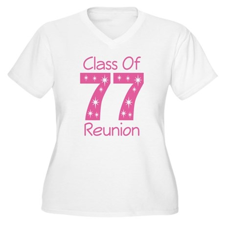 Class Of 1977 Reunion Women's Plus Size V-Neck T-S