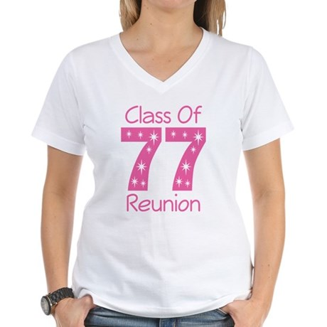 Class Of 1977 Reunion Women's V-Neck T-Shirt