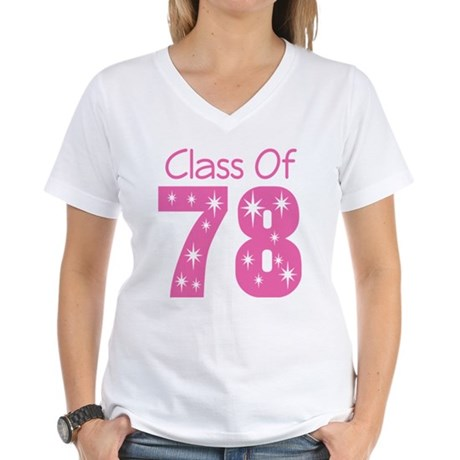 Class Of 1978 Women's V-Neck T-Shirt