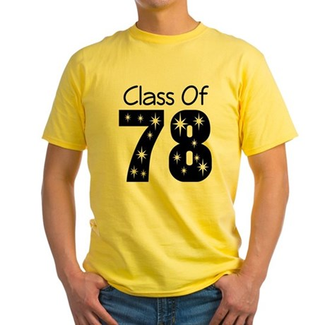 Class Of 1978 Yellow T-Shirt