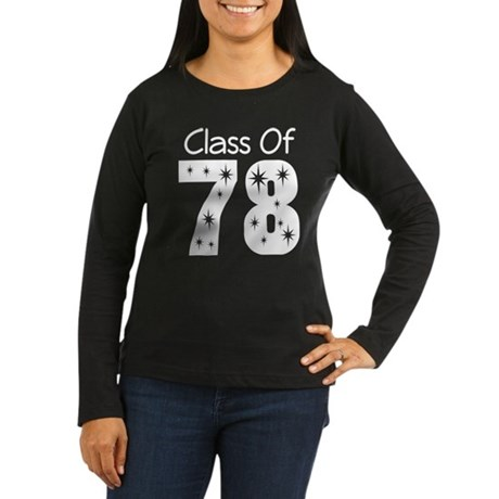 Class Of 1978 Women's Long Sleeve Dark T-Shirt