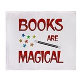 Books are Magical Throw Blanket